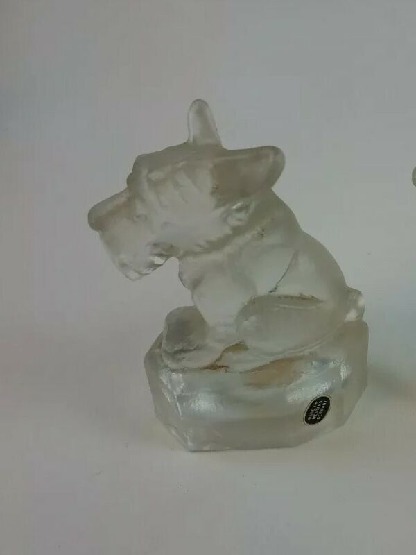 Vintage Schnauzer Paperweight Figurine W. Germany Great Condition