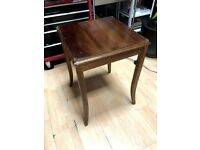 solid wood table vintage antique