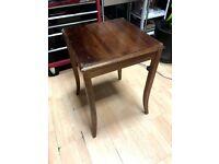 solid wood table vintage antique