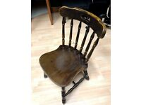 vintage chair original retro classic antique solid wood .