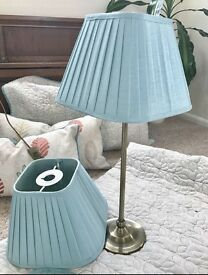 2 pleated lamp shades