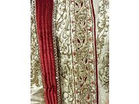 Mens gold and red sherwani