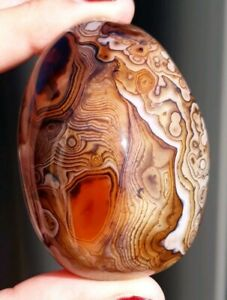 Large Banded Agate Crystal Palmstone 61mm (See Description)