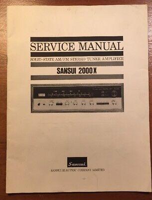 SANSUI 2000X STEREO TUNER AMPLIFIER ORIGINAL SERVICE MANUAL P071-B