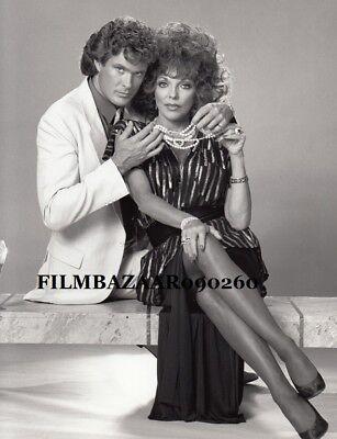 JOAN COLLINS - DAVID HASSELHOFF - Orig Vintage Photo CARTIER AFFAIR 1984 F#33