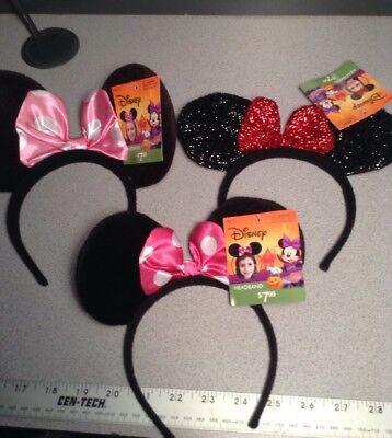 3 Minnie Mouse Ears Headband Sparkly Dark Pink Halloween Birthday Party Favors - Halloween Minnie Ears