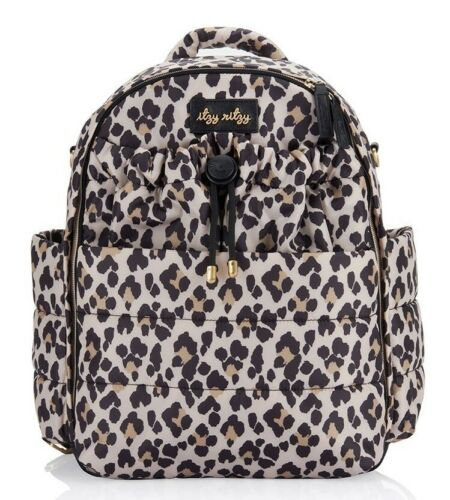 Itzy Ritzy Dream Baby Diaper Bag Backpack Changing Pad Leopard NEW