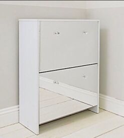 Two drawer shoe cabinet