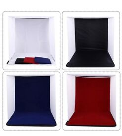 Photo Light Box for Taking professional photos including different colored backgrounds