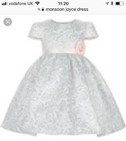 Monsoon Christening dress 6-12months