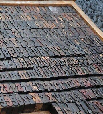 Letterpress Wood Printing Blocks 350pcs 1.38 Tall Alphabet Wooden Type Woodtype