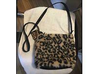 F&F leopard print fur bag (can post)