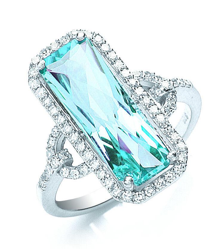 Blue Topaz Ring White Gold Blue Topaz Ring Huge Blue Topaz And Diamond Ring