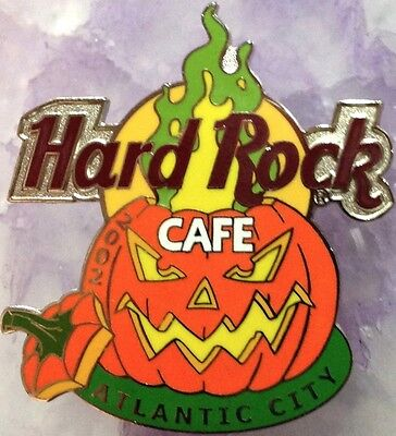 Hard Rock Cafe ATLANTIC CITY 2002 HALLOWEEN PIN Flaming Pumpkin - HRC #14579](Rock City Halloween)