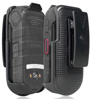 Black Belt Clip Holster Case Stand for Kyocera DuraXV LTE (Only E4610 E4710) Black Plain Clip