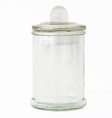 125 Mini French Apothecary Glass Favor Candy Macaron Treat Jars with Lids 150ml ()