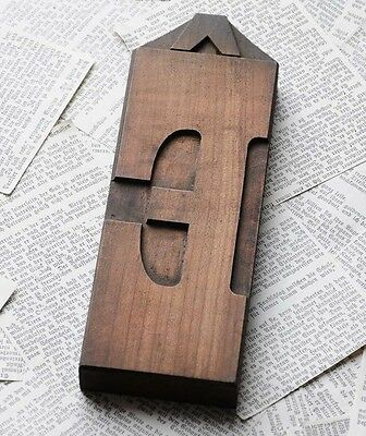 Letter Rare Wood Type 7.99 Inch Woodtype Font Letterpress Printing Block