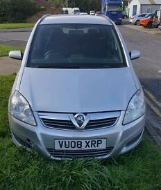 Vauxhall zafira 1.9cdti 08plate 7seater good runner. Spares or repairs