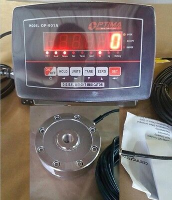 Compression Scale 5000 X 0.5 Lb With Low Profile Load Cell Indicator Portable