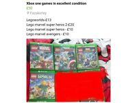 Xbox one games £50 for all or see pic for prices