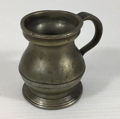 Small Antique 1/4 Gill Measure 5.5cm In Height