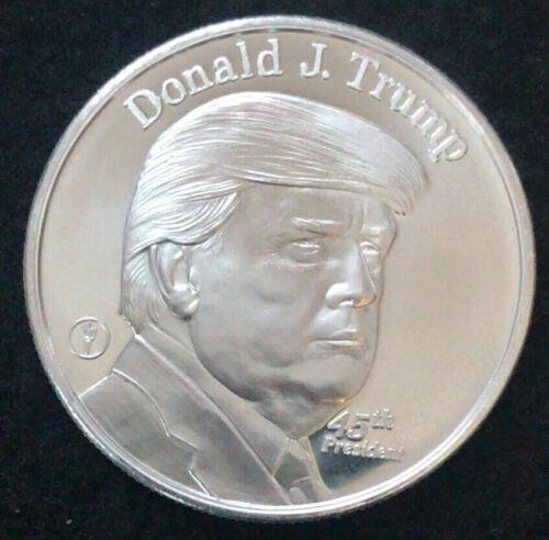 1 Oz Silver - Donald J Trump 45th President - Collectible .999 Pure Silver Round