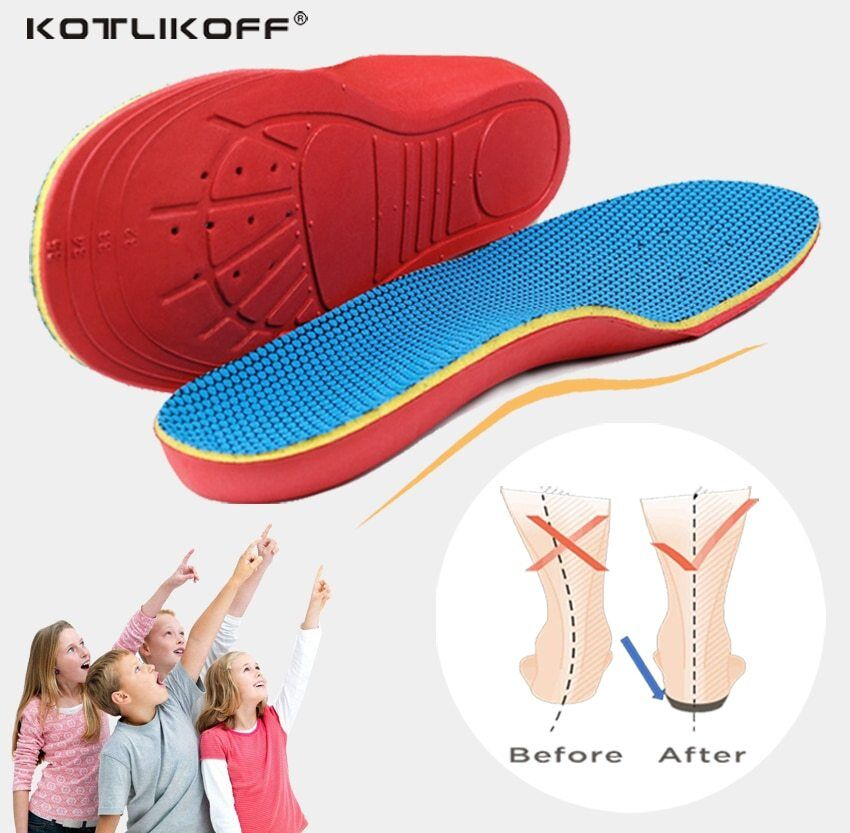 KOTLIKOFF 3D Orthotic Insoles flat feet for kids and Childre