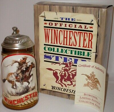BUDWEISER - THE OFFICIAL WINCHESTER - LIDDED STEIN - LIMITED