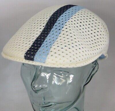 KANGOL MESH STRIPE 504 Flatcap Ivy Cap Sommermütze Golfcap Mütze weiss NEU Kangol Stripe