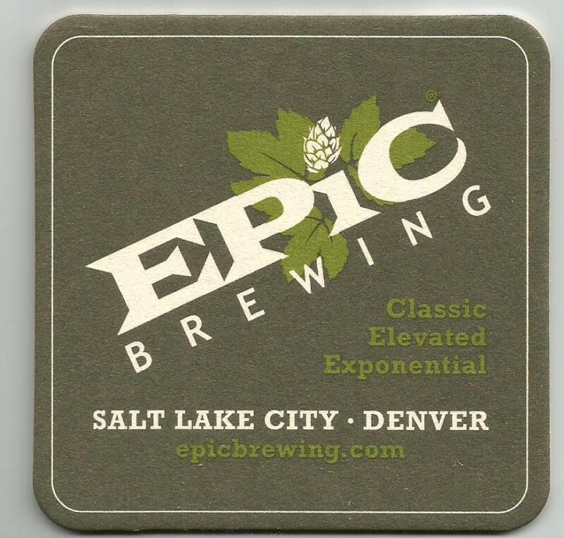 12 Epic Brewing Beer Coasters
