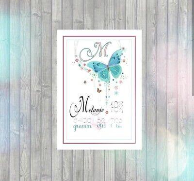 ld A4 Baby Kinderzimmer Poster Plakat Deko (Name Plakat)