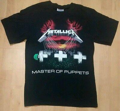 Metallica Master of Puppets Men's Small Black Shirt Hard Rock Heavy Metal