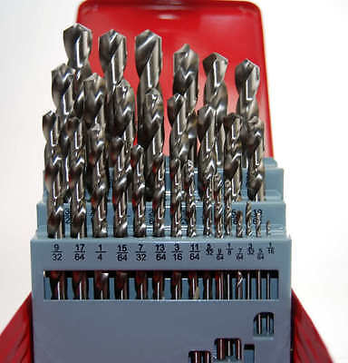 HSS DRILL SET IMPERIAL 1/16 - 1/2 X 64 THS SUIT LATHE USER PRECISION