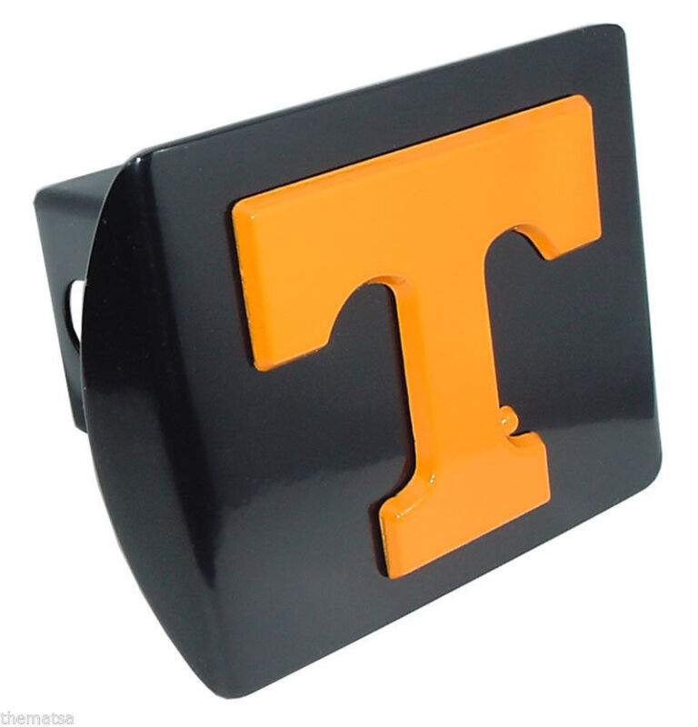 TENNESSEE ORANGE T BLACK USA MADE TRAILER HITCH COVER