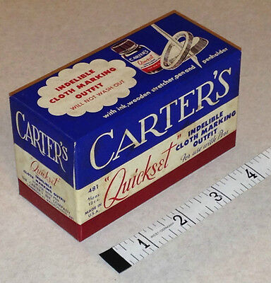 Vintage New Old Stock 1950's Carter's Quickset Indelible Cloth Marking Outfit