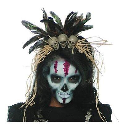Voodoo Doctor Costume (Underwraps Witch Doctor VooDoo Costume Accessory Headband Adult)