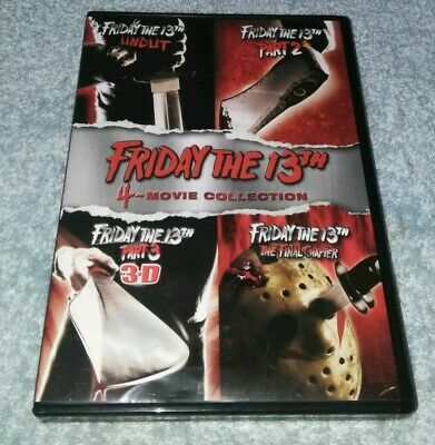 Friday the 13th Deluxe Edition Four Pack DVD HORROR HALLOWEEN