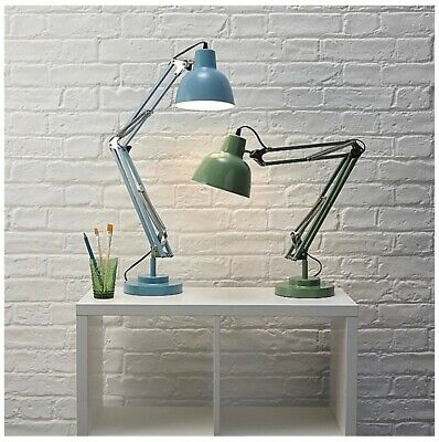 2 LAMP PACKAGE! Gorgeous Retro Hinged Desk Lamp SES E14 Choose Your Own Colours