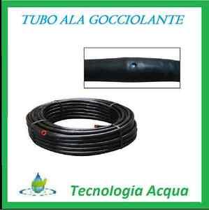 Tubo metri 100 mt ala gocciolante 16 passo 30 irrigazione for Tubo gocciolante