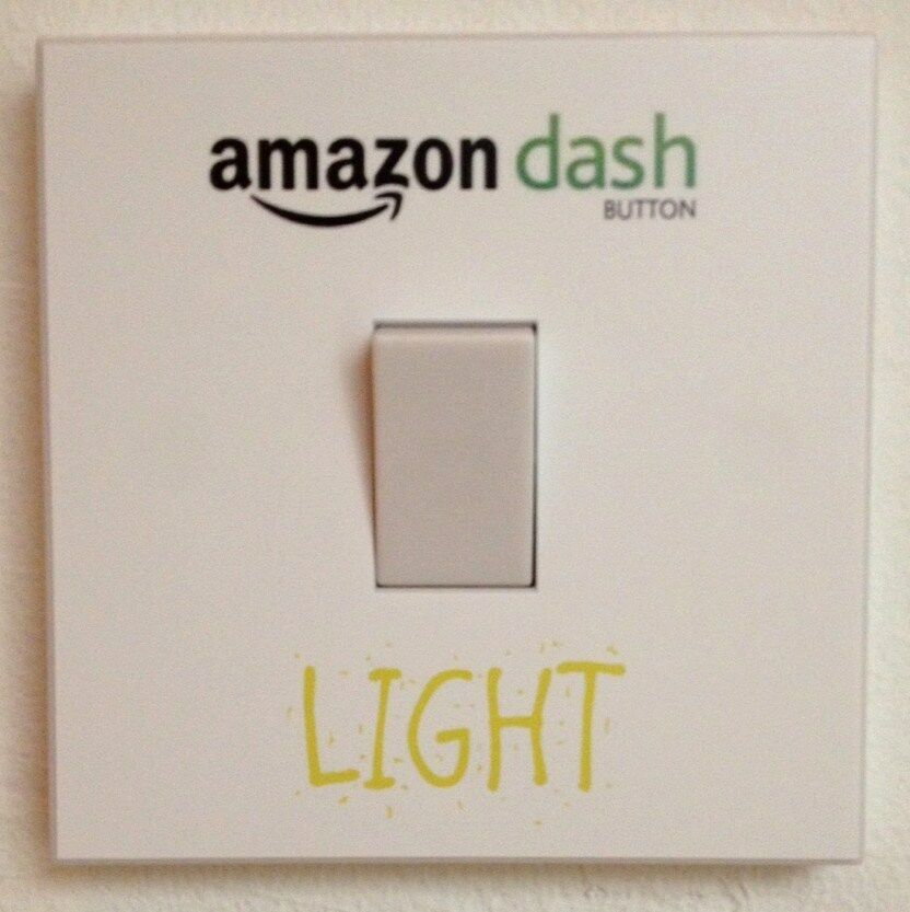 Amazon Dash Button Light Switch Sticker Wall Art Removable D