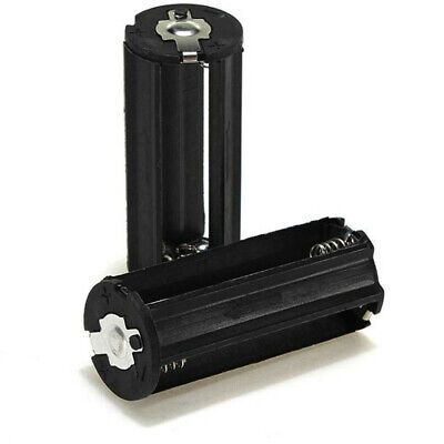 2x 3-AAA Battery Holder Cylindrical Case Plastic For