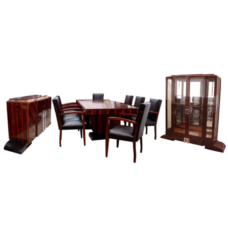 Art Deco Dining Set by Dominique, Ebony d