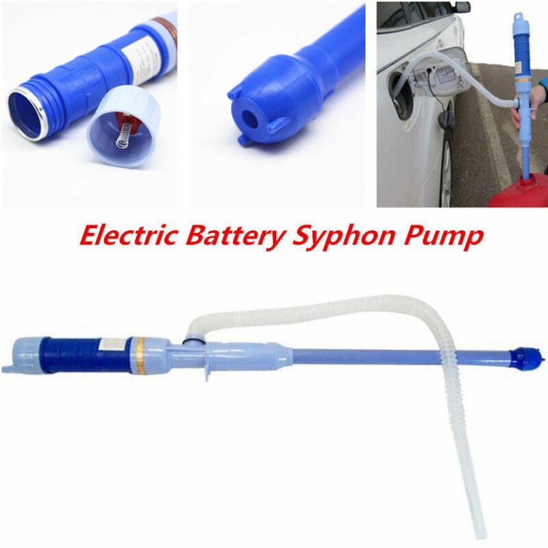 Car Electric Battery Syphon Powered Pump Diesel Fuel Water Gas Hose Hand Pump