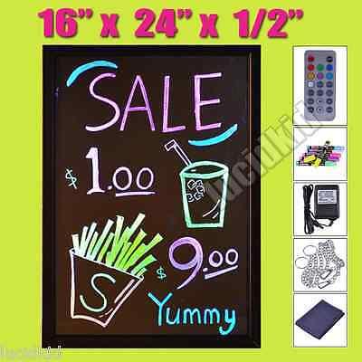 16w X 24h X 12d Thin Profile Led Writing Menu Board Neon Glow With Tripod