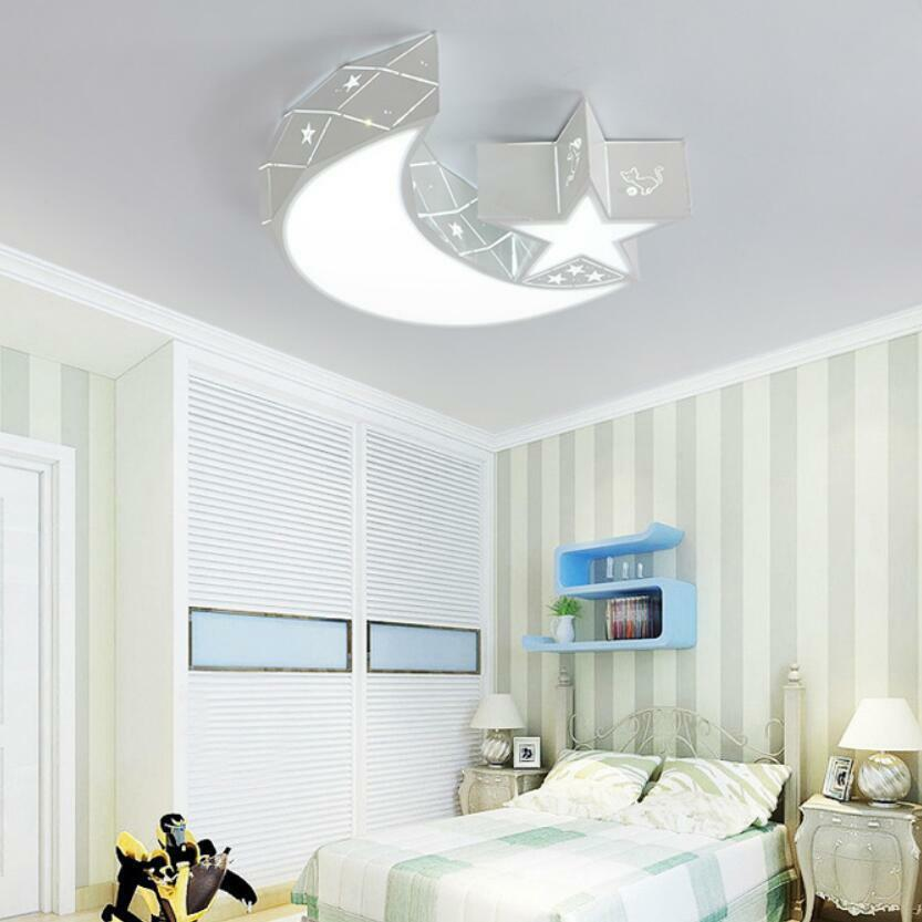 Details about Led Ceiling Lights Child Kids Girls Bedroom Lighting  Chandeliers Moon Star Lamps