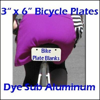 Dye Sublimation Products 3 X 6 Aluminum Bicycle Plate Blanks - Lot Of 10pcs