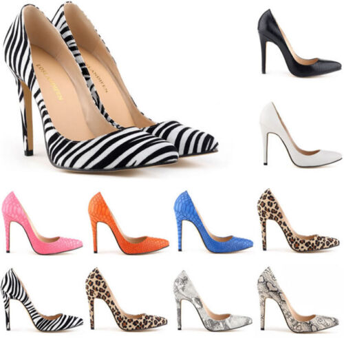 3aeee548e1a Stylish Womens Pointed Toe Animal Print Pumps Party Stilettos Shoes ...
