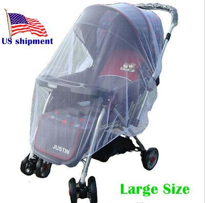 Rede de mosquito do bebê dos miúdos para o carrinho de criança, portadores, assentos de carro, branco do verão da cama dos berços