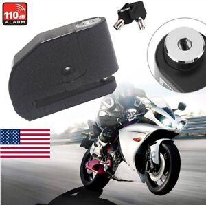 USA Motorcycle Scooter ATV Anti-Theft Disc Brake Wheel Lock Security Alarm Metal
