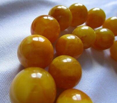 BERNSTEIN-KETTE KUGELN BUTTERSCOTCH 71,71g baltic amber balls necklace